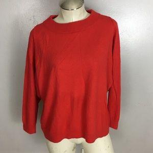 J Crew Dolman Sweater Red Wool Blend XS